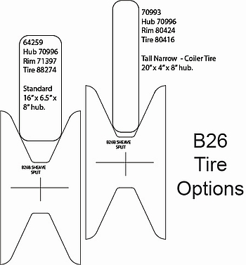 MARCO B26 Tire Options